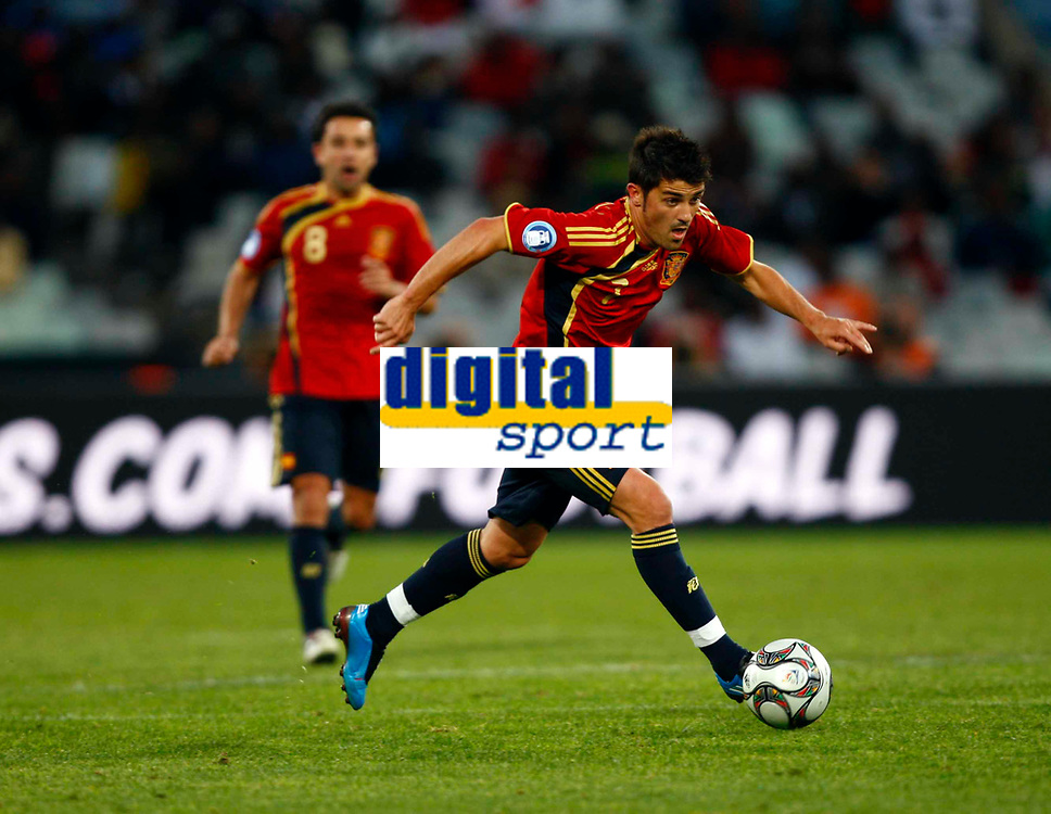 Fotball<br /> Confederations Cup<br /> Spania v Irak<br /> 17.06.2009<br /> Foto: Colorsport/Digitalsport<br /> NORWAY ONLY<br /> <br /> David Villa of Spain<br /> <br /> FIFA Confederations Cup South Africa 2009 <br /> Spain v Iraq Group B at Free State  Stadium Mangaung / Bloemfontein South Africa
