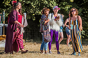 All types of outfits - The 2018 Latitude Festival, Henham Park. Suffolk 13 July 2018