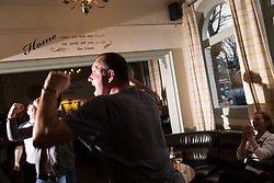 SKY SPORTS - Photographs of the patrons enjoying Sky Sports at the Milford Arms in Isleworth, West London, as the derby between Manchester United and Manchester City takes place. London, April 07 2018.