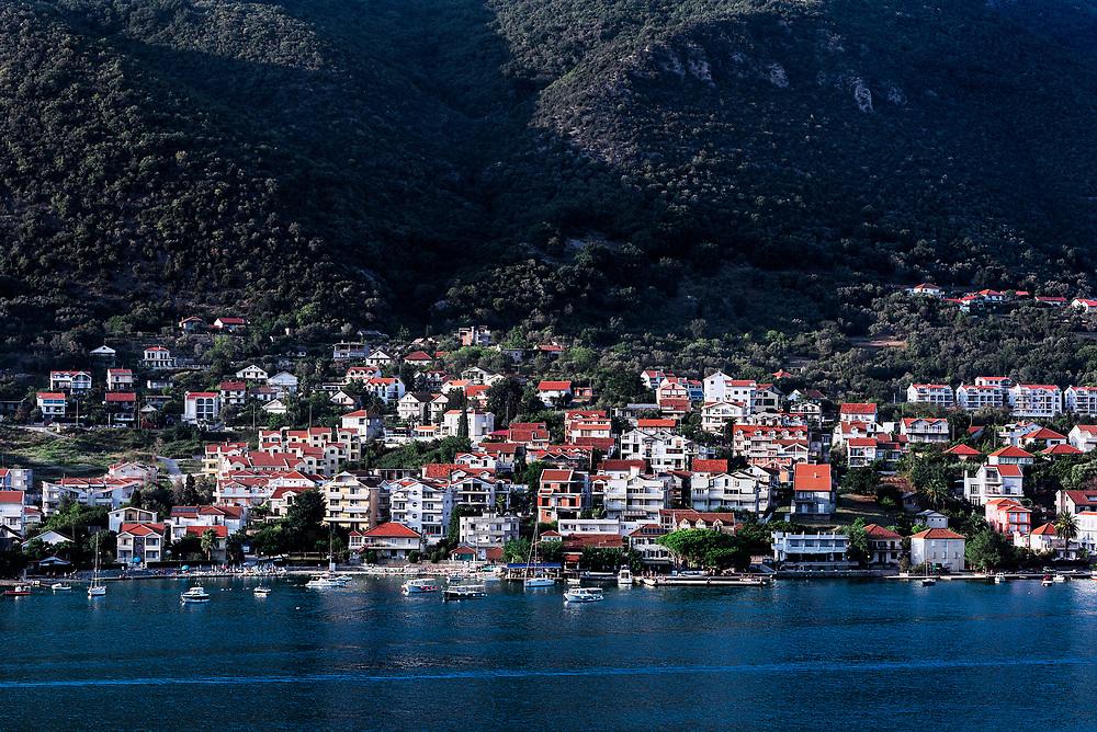 Coastal town of Đenovići, Bay of Kotor, Montenegro