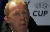 Photo: Paul Thomas.<br /> Bolton Wanderers v Braga. UEFA Cup. 25/10/2007.<br /> <br /> New Bolton manager Gary Megson. *** Local Caption *** *** UK ONLY ***