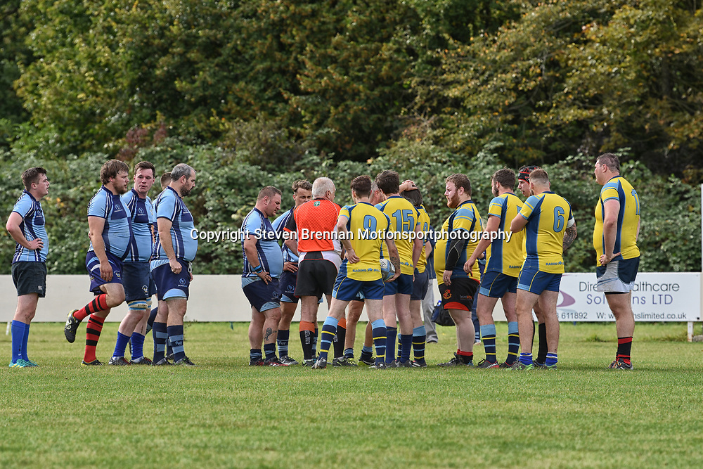 Swindon Supermarine RFC Swindon Wiltshire England UK 28/9/2019 Swindon Supermarine RFC hosts Trowbridge RFC at the Swindon Supermarine rugby Final score Supermarine RFC 47 Trowbridge RFC 0