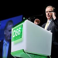 Nederland, Amsterdam , 8 februari 2014.<br /> D66 congres in Beurs van Berlage.<br /> Aan het woord Howard Dean  Amerikaans politicus namens de Democratische Partij.<br /> Foto:Jean-Pierre Jans