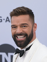 January 27, 2019 - Los Angeles, California, U.S - Ricky Martin at the red carpet of the 25th Annual Screen Actors Guild Awards held at the Shrine Auditorium in Los Angeles, California, Sunday January 27, 2019. JAVIER ROJAS/PI (Credit Image: © Prensa Internacional via ZUMA Wire)
