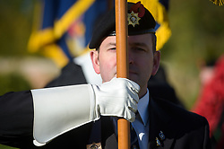 Royal British Legion standard bearers march on parade in the Royal Wootton Bassett Field of Remembrance at Lydiard park, Swindon, as it opens to honour and remember those who have been lost serving in the Armed Forces.
