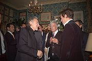 HARVEY KEITEL AND HUGH GRANT, Pre Bafta dinner hosted by Charles Finch and Chanel. Mark's Club. Charles St. London. 9 February 2008.  *** Local Caption *** -DO NOT ARCHIVE-© Copyright Photograph by Dafydd Jones. 248 Clapham Rd. London SW9 0PZ. Tel 0207 820 0771. www.dafjones.com.