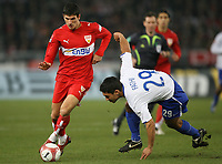 Fotball<br /> Bundesliga<br /> 23.02.2007<br /> Foto: Witters/Digitalsport<br /> NORWAY ONLY<br /> <br /> v.l. Mario Gomez VfB, Malik Fathi<br /> Bundesliga VfB Stuttgart - Hertha BSC Berlin
