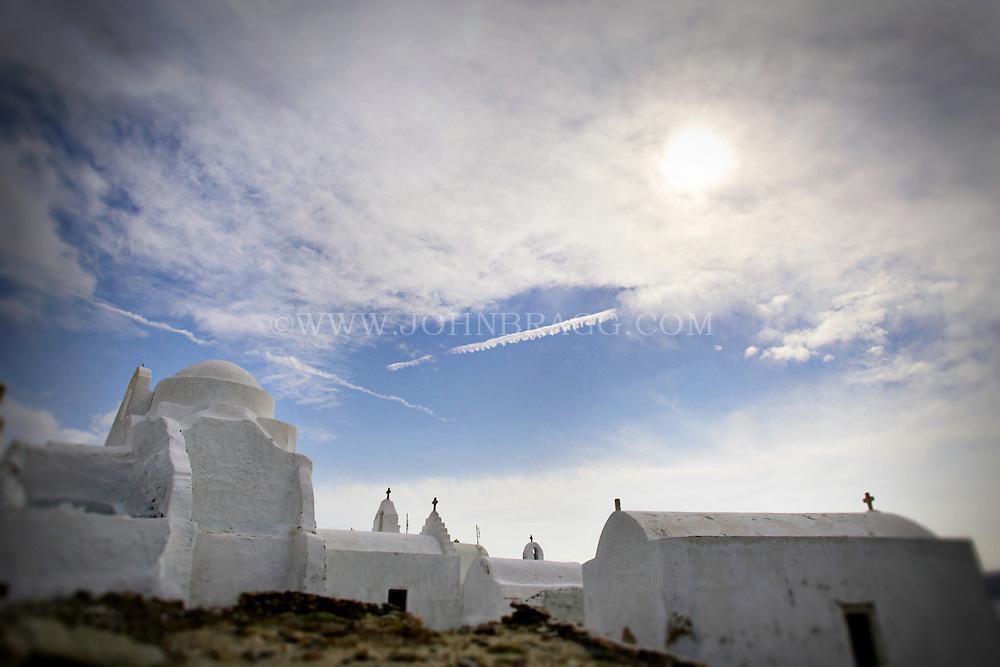 A white dome Greek Island Church, Mykonos, Greece