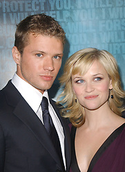 US actors Ryan Phillippe and wife Reese Witherspoon attend Lion Gate Films' Los Angeles Premiere of 'Crash' held at The Academy of Motion Picture Arts and Sciences in Beverly Hills, California on April 26, 2005. Photo by by Debbie VanStory/ABACA.  | 77098_04