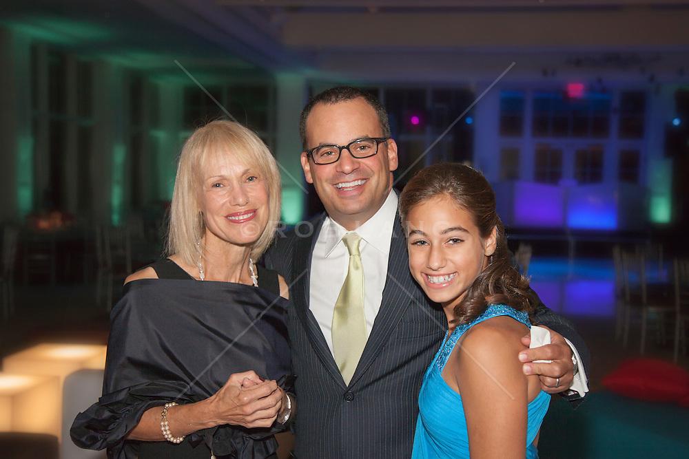 three generations of a family at a Bat Mitzvah