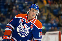 KELOWNA, CANADA - OCTOBER 2: Connor McDavid #97 of the Edmonton Oilers enters the ice against Los Angeles Kings on October 2, 2016 at Kal Tire Place in Vernon, British Columbia, Canada.  (Photo by Marissa Baecker/Shoot the Breeze)  *** Local Caption *** Connor McDavid;