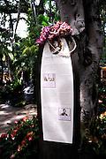 Monument in honour of Queen Emma Kaleleonalani (January 2, 1836 - April 25, 1885. Waikiki, Honoulu, Hawaii