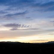 Sunset over the range at Towamba, New South Wales, Australia