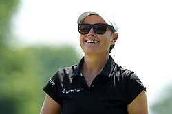June 17, 2018 - Belmont, Michigan, United States - Lee-Anne Pace of South Africa reacts after her shot on the second tee during the final round of the Meijer LPGA Classic golf tournament at Blythefield Country Club in Belmont, MI, USA  Sunday, June 17, 2018. (Credit Image: © Jorge Lemus/NurPhoto via ZUMA Press)