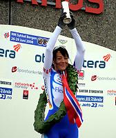 NM Sykkel Bergen<br /> 26.Juni 2008<br /> Kvinner senior <br /> Tempo 29,4 km<br /> Kongepokal vinneren<br /> Anita Valen-De Vries , Team Flexpoint / Grenland SK<br /> Foto : Astrid M. Nordhaug