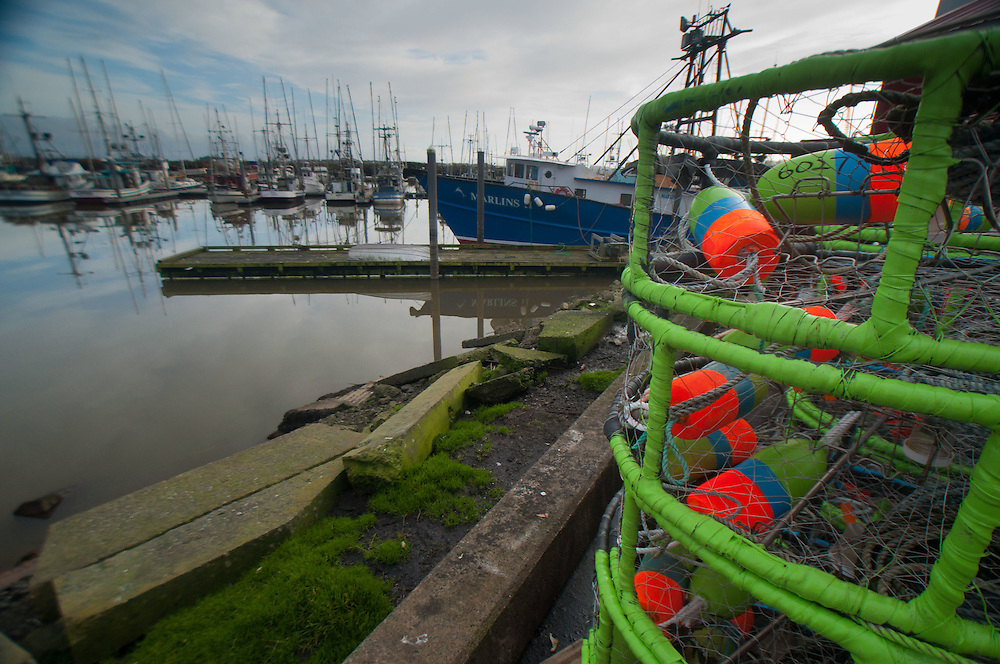 Crab Traps at Jessie's Ilwaco Fish Co., Ilwaco, Washington, US