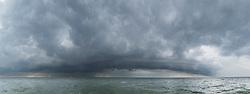 Pano thunderstorm IJsselmeer, Netherlands