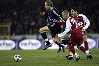 Fotball<br /> Belgia 2004/05<br /> Club Bruggev Mouscron<br /> 28. november 2004<br /> Foto: Digitalsport<br /> NORWAY ONLY<br /> BOB COUSIN - RUNE LANGE /