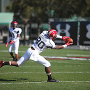 Jarvis Landry (80)makes a catch during the practice session at the Walt Disney Wide World of Sports Complex in preparation for the Under Armour All-America high school football game on December 3, 2011 in Lake Buena Vista, Florida. (AP Photo/Alex Menendez)
