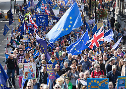 © Licensed to London News Pictures. 09/09/2017. London, UK. The pro-EU People's March For Europe takes place in central London. Speakers including Sir Bob Geldof, Sir Ed Davey and Liberal Democrat leader Vince Cable will address a rally in Parliament Square. Photo credit: Peter Macdiarmid/LNP
