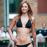 Aniko Hodi a participant of the Beauty Queen contest attends a bikini tour in Hotel Abacus, Herceghalom, Hungary on July 07, 2011. ATTILA VOLGYI