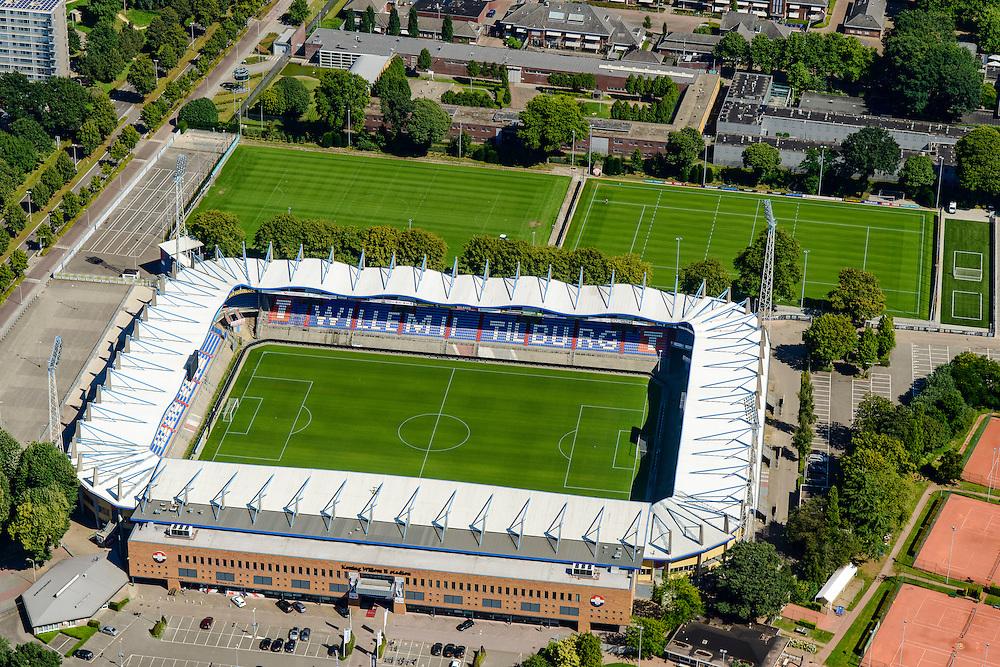Nederland, Noord-Brabant, Tilburg, 23-08-2016; Koning Willem II-stadion van voetbalclub Willem II.<br /> luchtfoto (toeslag op standard tarieven);<br /> aerial photo (additional fee required);<br /> copyright foto/photo Siebe Swart