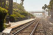 Train Tracks Along the Coast Through San Clemente
