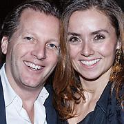 NLD/Amsterdam/20131114 - 10 jarig bestaan Louis Vuitton Nederland, Michiel Mol en partner Marloes Mens