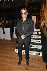 JOHNNY DEPP at the GQ Men Of The Year 2014 Awards in association with Hugo Boss held at The Royal Opera House, London on 2nd September 2014.