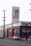 CS03017. Harley store 5225 NE Union @ Sumner-Emerson Feb. 6, 1974. Now Vanport Square