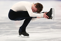 January 17, 2018 - Moscow, Russia - Figure skater Stephane Walker of Switzerland performs his short program during a men's singles competition at the 2018 ISU European Figure Skating Championships, at Megasport Arena in Moscow, Russia  on January 17, 2018. (Credit Image: © Igor Russak/NurPhoto via ZUMA Press)