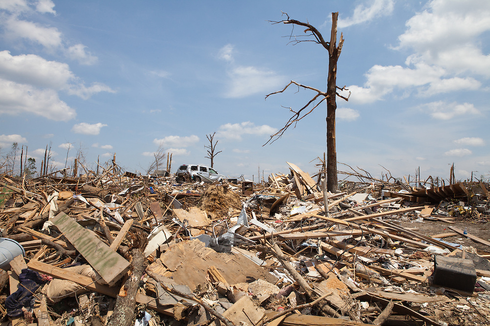 Over a mile of homes in Pleasant Grove, a suburb of Birmingham<br />  Alabama  turned into rubble by a tornado.2011-05-12