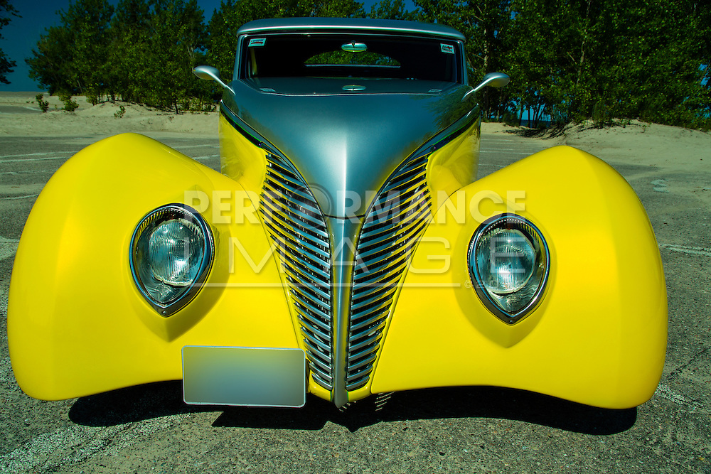 1939 Ford Custom on pavement