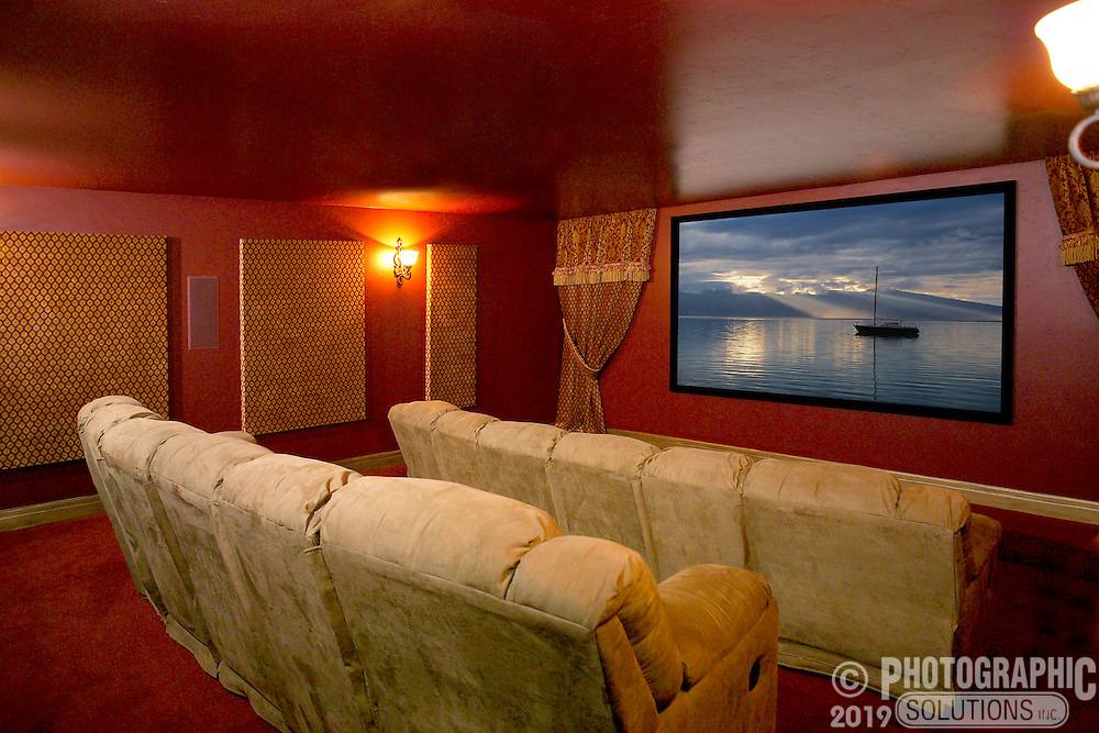 Home theater with reclining seating