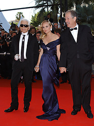 """60th Cannes Film Festival - """"L'Age des tenebres"""" Closing Night Ceremony. 27 May 2007 Pictured: Karl Lagerfeld,Diane Kruger,Denys Arcand. Photo credit: AXELLE/BAUER-GRIFFIN / MEGA TheMegaAgency.com +1 888 505 6342"""