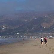 Life amid the Zuma Beach shoreline in Malibu, California.