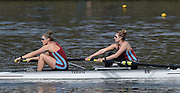 Caversham  Great Britain.<br /> Bow. Beth BRYAN and Jo WRATTEN.<br /> 2016 GBR Rowing Team Olympic Trials GBR Rowing Training Centre, Nr Reading  England.<br /> <br /> Tuesday  22/03/2016 <br /> <br /> [Mandatory Credit; Peter Spurrier/Intersport-images]