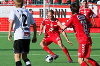 Tippeliga Fotball 20.Mai 2014. Eliteserie. Foto Christian Blom Digitalsport Sogndal - Brann. Taijo Teniste Sogndal. Kristoffer Barmen, Kasper Skaanes, Daniel Mojsov Brann