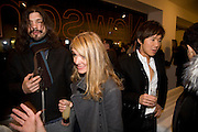 RICHARD BAYLEY, JANET LEE AND ANDY WONG, Exhibition of work by Marc Newson at the Gagosian Gallery, Davies st. London. afterwards at Mr. Chow, Knightsbridge. 5 March 2008.  *** Local Caption *** -DO NOT ARCHIVE-© Copyright Photograph by Dafydd Jones. 248 Clapham Rd. London SW9 0PZ. Tel 0207 820 0771. www.dafjones.com.