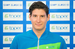 Matic Masterl during official presentation of the outfits of the Slovenian Ski Teams before new season 2015/16, on October 6, 2015 in Kulinarika Jezersek, Sora, Slovenia. Photo by Vid Ponikvar / Sportida