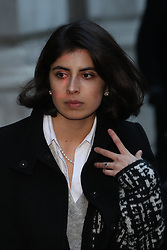 November 22, 2018 - London, London, United Kingdom - Image licensed to i-Images Picture Agency. 22/11/2018. London, United Kingdom.  Daniela Tejada, the wife of Matthew Hedges, who was sentenced to life imprisonment in the UAE, arriving  at the Foreign Office in London. (Credit Image: © Stephen Lock/i-Images via ZUMA Press)
