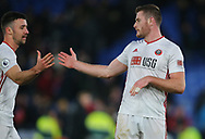 Sheffield United's Jack O'Connell and Enda Stevens after the Premier League match at Selhurst Park, London. Picture date: 1st February 2020. Picture credit should read: Paul Terry/Sportimage