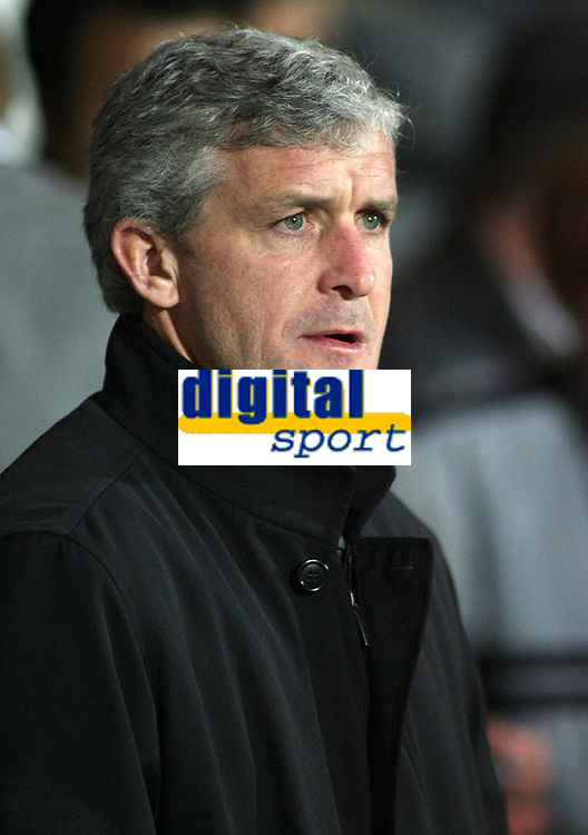 Photo: Paul Thomas.<br /> Blackburn Rovers v Basle. UEFA Cup. 02/11/2006.<br /> <br /> Mark Hughes, Blackburn manager.