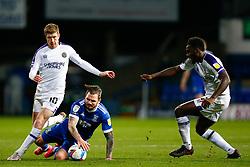 James Norwood of Ipswich Town is fouled by Josh Vela of Shrewsbury Town - Mandatory by-line: Phil Chaplin/JMP - 21/11/2020 - FOOTBALL - Portman Road - Ipswich, England - Ipswich Town v Shrewsbury Town - Sky Bet League One