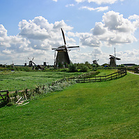 Windmills of Kinderdijk, The Netherlands Travel Stock Photos