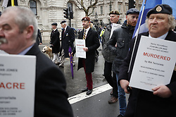 © Licensed to London News Pictures. 03/02/2018. London, UK. UKIP Leader Henry Bolton takes part in a Veterans for Justice March through Whitehall in central London .Photo credit: Peter Macdiarmid/LNP
