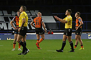Castleford's Oliver Holmes (11) is sent off  during the Betfred Super League match between Leeds Rhinos and Castleford Tigers at Emerald Headingley Stadium, Leeds, United Kingdom on 26 October 2020.