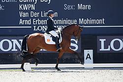 Prada Ortiz Ainhoa, ESP, Hannelinde Gln<br /> Longines FEI/WBFSH World Breeding Dressage Championships for Young Horses - Ermelo 2017<br /> © Hippo Foto - Dirk Caremans<br /> 04/08/2017