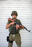 Nazar, from Ivano-Frankivsk in western Ukraine, photographed in Mariupol, Ukraine. He volunteered for the military as the country mobilized to counter rising separatism in eastern Ukraine's Donbass region. (September 25, 2015)