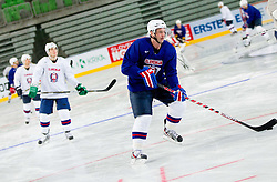Tomaz Razingar during practice session of Slovenian National Ice Hockey team first time in Arena Stozice before 2012 IIHF World Championship DIV I Group A in Slovenia, on April 13, 2012, in Arena Stozice, Ljubljana, Slovenia. (Photo by Vid Ponikvar / Sportida.com)